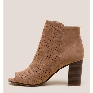 Francesca's   Peep Toe Bootie Size 10 New